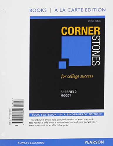 Cornerstones for College Success, Student Value Edition, 7/e Plus NEW MyLab Student Success with Pearson eText -- Access Card Package (7th Edition)