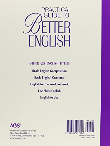 PRACTICAL GUIDE TO BETTER ENGLISH LEVEL 4 TEACHER'S EDITION (AGS PRACTICE GUIDE TO BETTER ENGLISH)