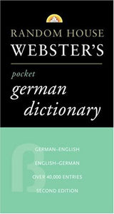 Random House Webster's Pocket German Dictionary, 2nd Edition