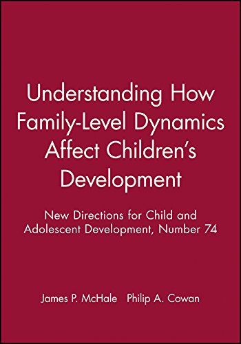 Understanding How Family-Level Dynamics Affect Children's Development: New Directions for Child and Adolescent Development, Number 74 (J-B CAD Single Issue Child & Adolescent Development)