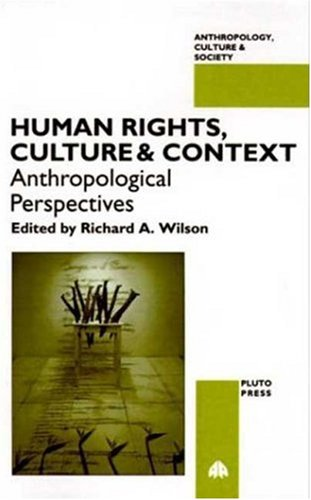 Human Rights, Culture and Context: Anthropological Perspectives (Anthropology, Culture and Society)