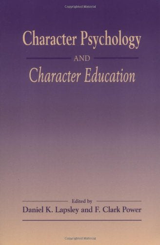 Character Psychology And Character Educa