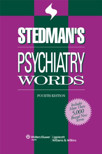 Stedman's Psychiatry Words (Stedman's Word Books)