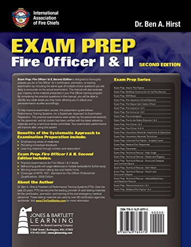 Exam Prep: Fire Officer I & Ii (Exam Prep (Jones & Bartlett Publishers))
