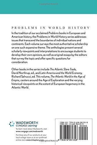 The Atlantic World In The Age Of Empire (Problems In World History.)