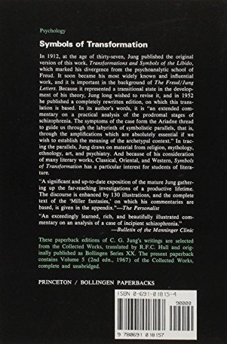 Symbols Of Transformation (Collected Works Of C.G. Jung Vol.5)