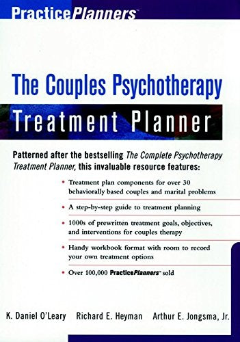 The Couples Psychotherapy Treatment Planner (Practiceplanners)
