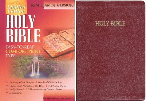 King James Version Large Print Bonded Leather Burgundy