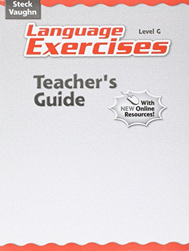 Steck-Vaughn Language Exercises: Teacher's Guide Grade 7 Level G 2004