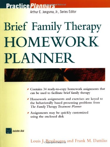 Brief Family Therapy Homework Planner
