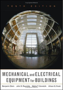 Mechanical And Electrical Equipment For Buildings, 10Th Edition