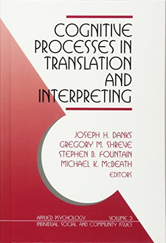 Cognitive Processes in Translation and Interpreting (Applied Psychology (Hardcover))