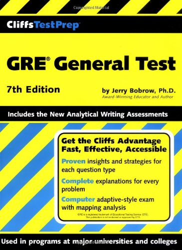 CliffsTestPrep GRE General Test