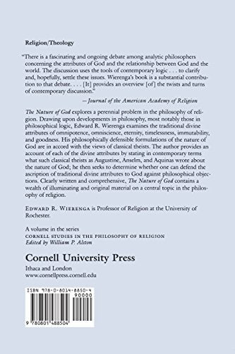 The Nature of God: An Inquiry into Divine Attributes (Cornell Studies in the Philosophy of Religion)