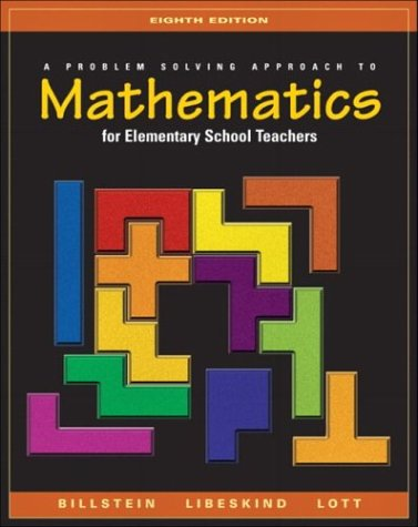A Problem Solving Approach To Mathematics For Elementary School Teachers