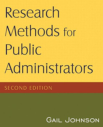 Research Methods For Public Administrators, 2Nd Edition