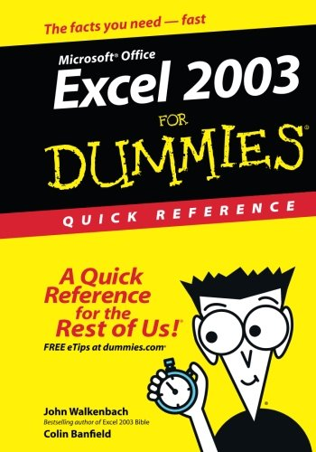 Excel 2003For Dummies Quick Reference