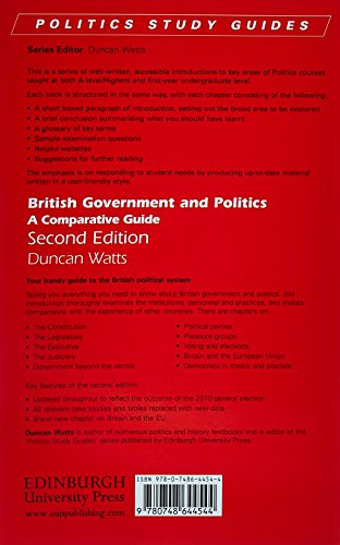 British Government and Politics, Second Edition: British Government and Politics: A Comparative Guide (Politics Study Guides EUP)