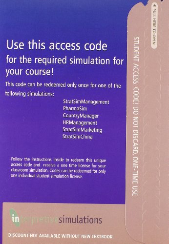 Interpretive Simulations Access Code Card Group B