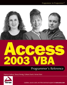 Access 2003 VBA Programmer's Reference