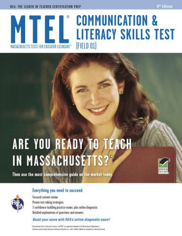 Mtel Communication & Literacy (Field 01) Book + Online (Mtel Teacher Certification Test Prep)