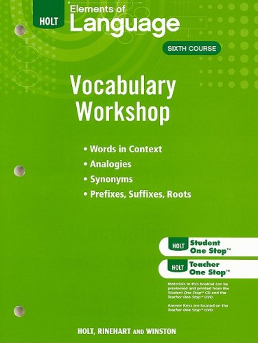 Holt Traditions Vocabulary Workshop