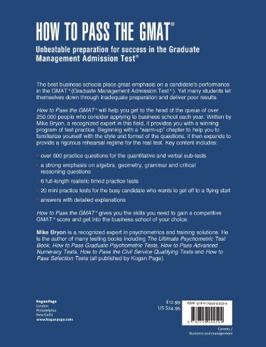 How to Pass the GMAT: Unbeatable Preparation for Success in the Graduate Management Admission Test (Elite Students Series)