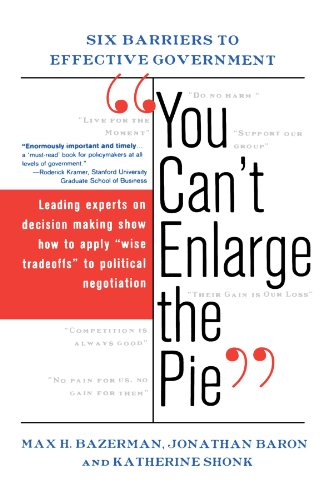 You Can't Enlarge The Pie: Six Barriers To Effective Government