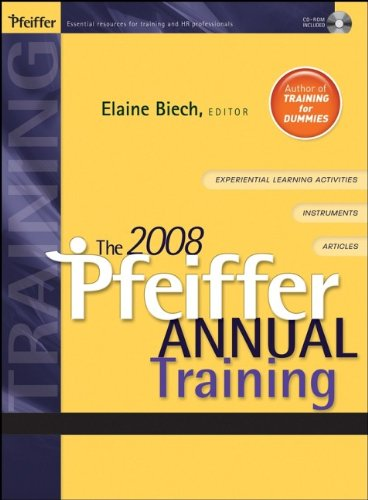 The 2008 Pfeiffer Annual: Training (v. 1)