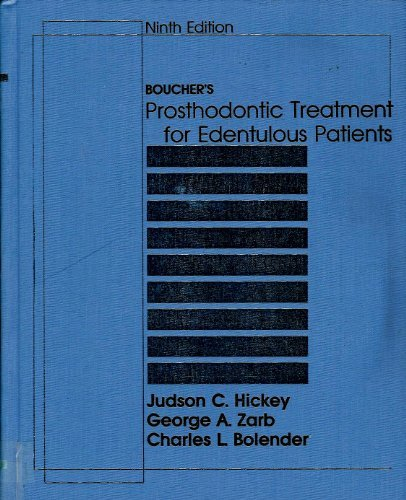 Boucher's Prosthodontic Treatment for Edentulous Patients