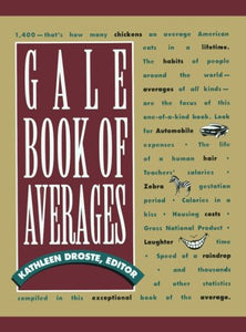 Gale Book of Averages 1st Ed