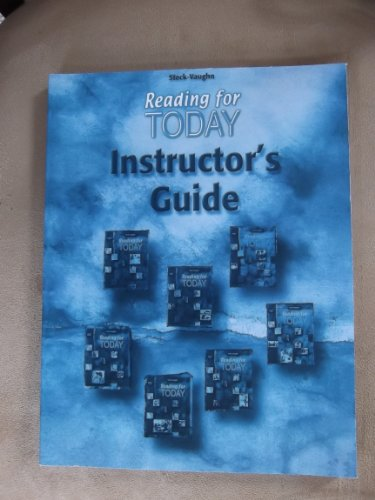Reading for Today: Instructor's Guide Reading for Today Reading for Today 2001
