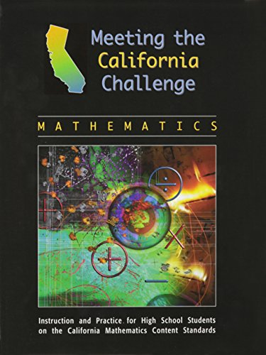 MEETING THE CALIFORNIA CHALLENGE MATH SE (MTG THE CA CLG-MTH)
