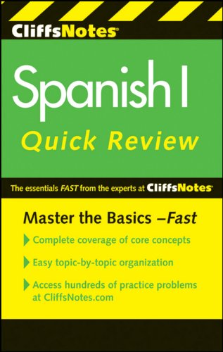 Cliffsnotes Spanish I Quick Review, 2Nd Edition (Cliffs Quick Review (Paperback))