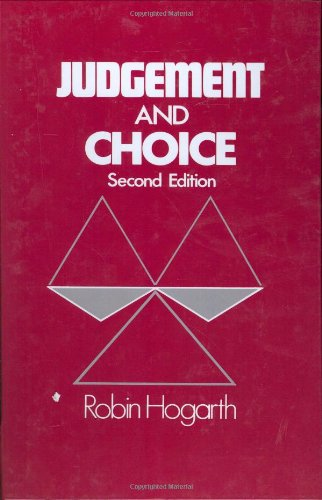 Judgement And Choice, Second Edition