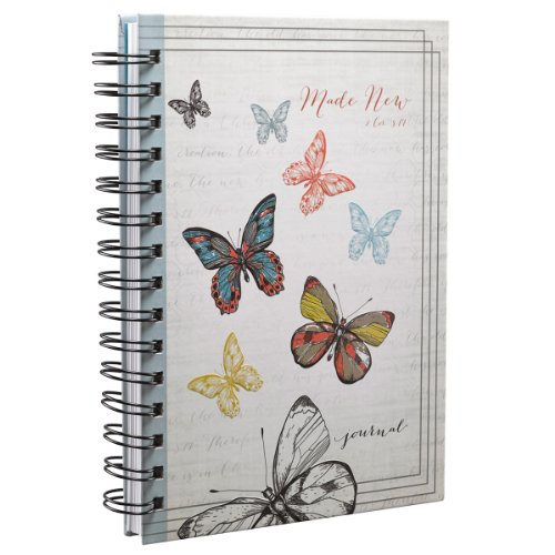 Made New Butterfly Hardcover Wirebound Journal