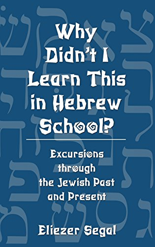 Why Didn't I Learn This in Hebrew School?: Excursions Through the Jewish Past and Present