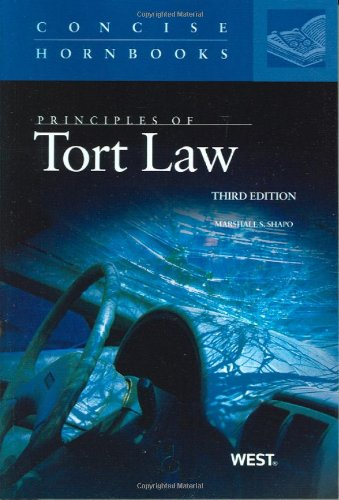 Principles Of Tort Law, 3D (Concise Hornbooks) (Concise Hornbook Series)