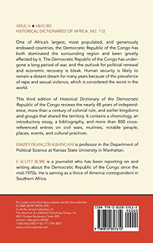 Historical Dictionary of the Democratic Republic of the Congo (Historical Dictionaries of Africa)
