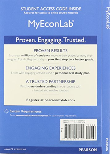 NEW MyLab Economics with Pearson eText -- Access Card -- for Survey of Economics: Principles, Applications and Tools