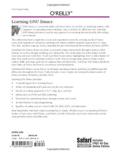 Learning Gnu Emacs, Third Edition