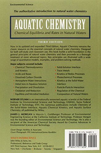 Aquatic Chemistry: Chemical Equilibria And Rates In Natural Waters