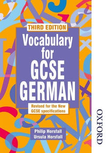 Vocabulary for GCSE German - 3rd Edition