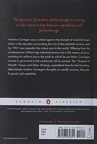 The Gospel of Wealth Essays and Other Writings (Penguin Classics)