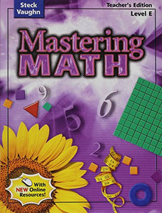 Mastering Math: Teacher's Guide, Level E Grade 5 2004