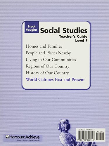 Steck-Vaughn Social Studies  2004: Teachers Guide World Cultures Past and Present 2004