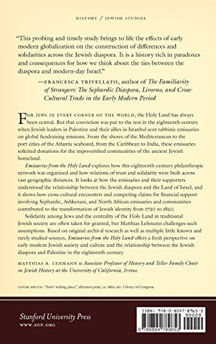 Emissaries from the Holy Land: The Sephardic Diaspora and the Practice of Pan-Judaism in the Eighteenth Century (Stanford Studies in Jewish History and Culture)