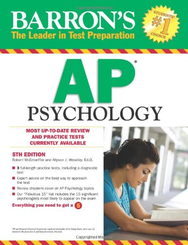 Barron'S Ap Psychology, 5Th Edition (Barron'S Study Guides)