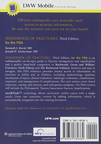 Handbook of Fractures for the PDA: Powered by Skyscape, Inc.
