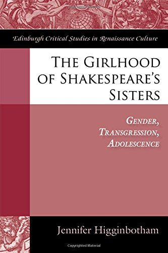 The Girlhood of Shakespeare's Sisters: Gender, Transgression, Adolescence (Edinburgh Critical Studies in Renaissance Culture)